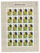 Mint sheet of 25 x 25f stamps of Guinea