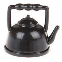 1:12 Dollhouse Miniature Mini Black Teapot Model Furniture Accessories Toys YK