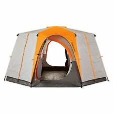 Coleman Octagon 98 Large 2 Room 8 Person Cabin Style Family Outdoor Camping Tent