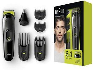 Braun MGK3021 - Machine Clipper 6 IN 1 Beard And Hair Clippers,Hair Nose
