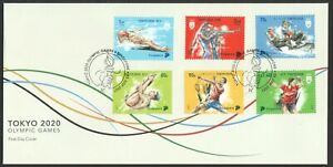 SINGAPORE 2021 TOKYO 2020 OLYMPIC GAMES FIRST DAY COVER COMP. SET OF 4 STAMPS