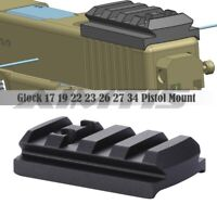 Red Dot Sight Mount Plate Picatinny Rail Mount for Glock 17 19 22 23 26 27 34 US