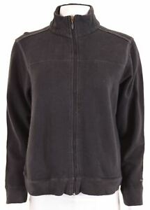 COLUMBIA Womens Tracksuit Top Jacket Size 12 Medium Black Cotton DO04