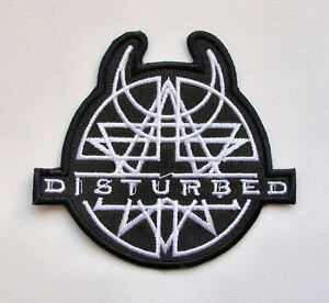 DISTURBED - Embroidered Patch Godsmack Drowning Pool Shinedown Breaking Benjamin
