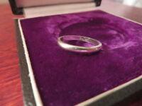 Hübscher 925 Silber Ring Klein Kind Schlank Meisterpunze Tier Geriffelt Retro