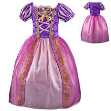 Kids Girls Party Fancy Dresses Tangled Rapunzel Dress up Costume Princess Dress