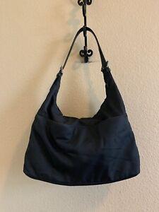 Coach Mercer  #7422 Black Microfiber & Leather Hobo Bag