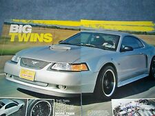 """2001 Ford Mustang GT Coupe Article """"Big Twins"""" Twin Turbo Charged"""