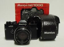 Vintage MAMIYA NC1000 35mm SLR Film Camera w/1.7 50mm CS Lens Case & Manual