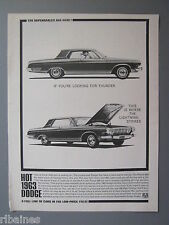 R&L Ex-Mag Advert: 1963 Dodge, Polara 500, 426 Ram Charger