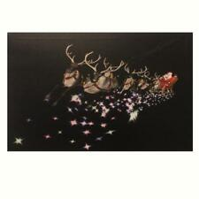 Christmas 46cm x 30cm LED Light up Canvas Picture - Santa Sleigh UKC96