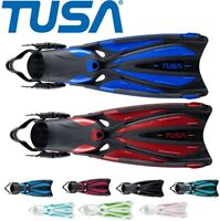 TUSA Solla 22 Quality Powerful Comfort SCUBA DIVE  Open Heel FINS - XS,S,M,L
