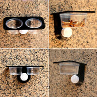 Reptile Food Water Feeding Bowl Spider Breeding Tank Box Dish Pot Suction