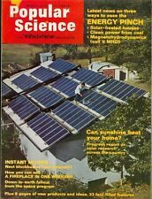 1974 Popular Science Magazine: Solar-Heated Houses/Clean Power from Coal/MHD