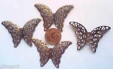"""25X30 MM ANNEAU haut et bas 2 Perles Estampes spacers /""""Papillon/""""  ARGENTÉ"""
