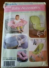 Simplicity 4636 Baby Accessories SEWING PATTERN shopping cart seat cover