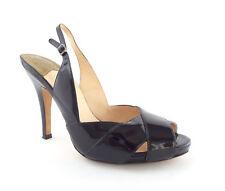 COLE HAAN Size 7.5 Black Patent Slingback Heels Pumps Shoes N. Air 7 1/2
