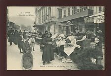 France Alpes Maritimes NICE Flower Market early PPC pub by V Mouska c1920s?