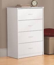 Chest of Drawers Clothing Dresser Bureau Bedroom White 4 Drawer Unisex Bath Hall