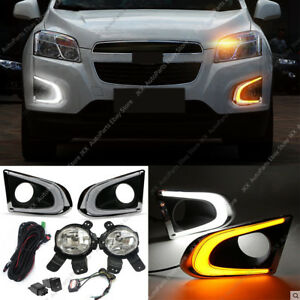 LED DRL Daytime Running Lamp & Fog Light Set  For Chevy Chevrolet Trax 2013-2016