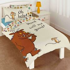 THE GRUFFALO DON'T CALL ME GOOD SINGLE DUVET COVER SET REVERSIBLE KIDS BEDDING