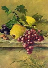 NATURE MORTE AUX FRUITS. HUILE SUR TOILE. ESPAGNE. FIN XIX SIECLE