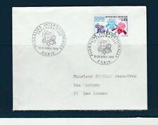 FRd enveloppe Fleurs  Floralies  internationale  inauguration  75 Paris   1969