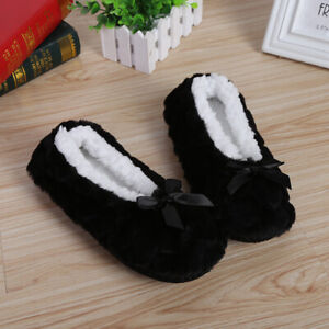 Women Plush Shoes Slippers Indoor Warm Plush Non-slip Home Winter Solid Slippers