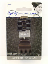 GOODY COLOUR COLLECTION SLIDEPROOF MINI CLAW CLIPS - BLACK - 2 PCS. (10045)
