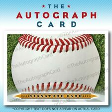 The Autograph Card Blank Signature cards BASEBALL TheAutographCard Auto