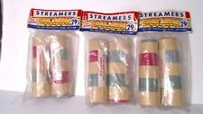3 Vintage PARTY Streamers Gay-Gem Products Nostalgic 40 throws per package