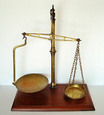 Large 19th Century W & T AVERY Birmingham Wood & Brass Balance Beam Scale