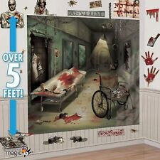 32 Sinister Surgery Halloween Wall Decoration Kit Scene Setter Horror Party Prop