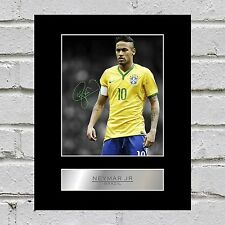 Neymar JR Mounted Photo Display Brésil