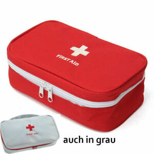 Medizintasche Reisetaschen Reiseapotheke Hausapotheke Medizinorganizer rot grau