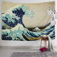 The Great Wave off Kanagawa Print - Fabric Tapestry - Home Living Room Decor