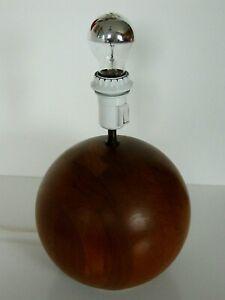 Alte Teak Tischlampe Lampe Leuchte Danish Design Fa. Kirk Holz Kugel