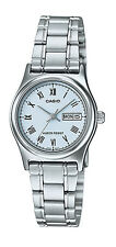 Casio LTP-V006D-2B Women's Standard Stainless Steel Roman Blue Dial Date Watch