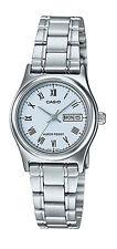 Casio LTP-V006D-2B Women's Standard Stainless Steel Roman Blue Dial Date Watch