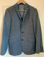 Limehaus Mens Slim Fit Grey Wool Blend Tweed Blazer Jacket 34R