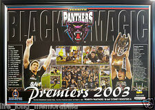 PENRITH PANTHERS NRL PREMIERS 2003 POSTER FRAMED FULLY GLASSED GENUINE PRODUCT