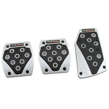 Black Silver Performance Manual Transmission Brake Gas Pedal Pads M/T for Truck