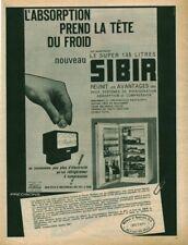 Publicité ancienne réfrigérateur Sibir issue de magazine 1950