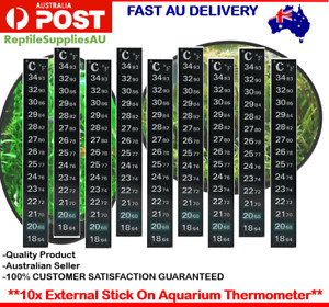 10x Aquarium Thermometer Sticker Temperature Strip Dual Scale External Stick On