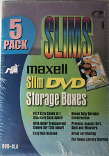 Maxell Slim DVD Storage Boxes 5-Pack