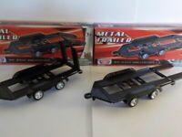 Twin axle Car Trailer X2 1/43 Motormax