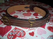 Sam Brown Belt Brown with Brass Double Clasp Buckle & Sword Keeper Nice LOOK!