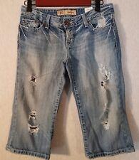 "Womens BKE Denim Distressed Shorts Sz26 (16""i) List#260D"