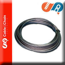 50 meters X 10mm 6X19 Fiber Core Galvanised Steel Cable / Wire Rope