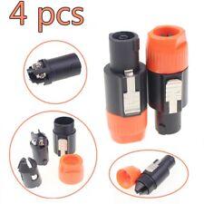 4pcs NL4FC professional Speakon 4 Pole Plug Male Audio Speaker End Connectors US